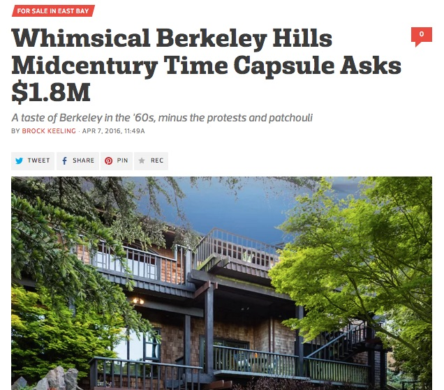Whimsical Berkeley Hills Mid-Century Time Capsule Asks $1.8M
