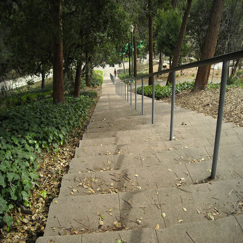 Morcom Rose Garden stairs in Oakland