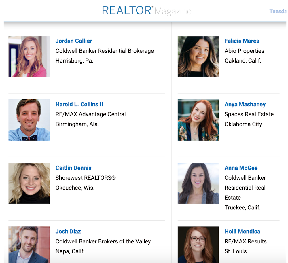 "Abio Agent Felicia Mares is Named to Realtor® Magazine's ""30 Under 30"" Class of 2019"