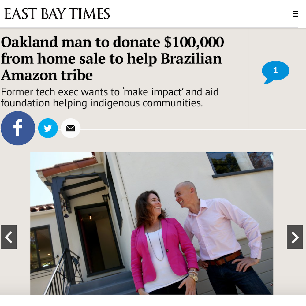Oakland man to donate $100,000 from home sale to help Brazilian Amazon tribe