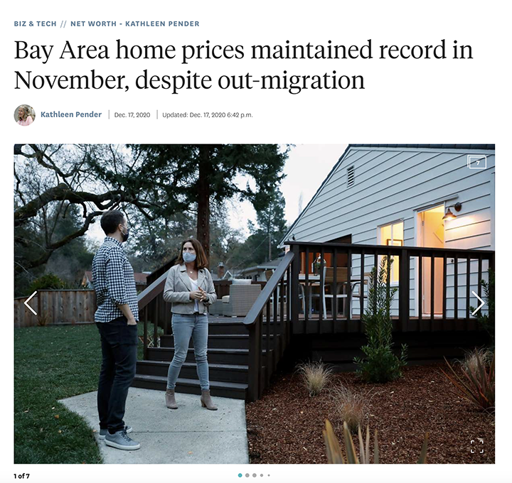 Bay Area home prices maintained record in November, despite out-migration