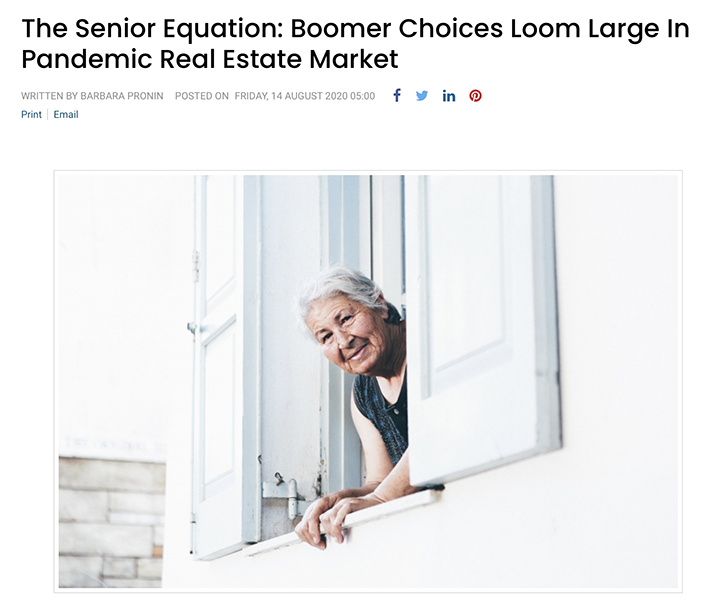 The Senior Equation: Boomer Choices Loom Large In Pandemic Real Estate Market