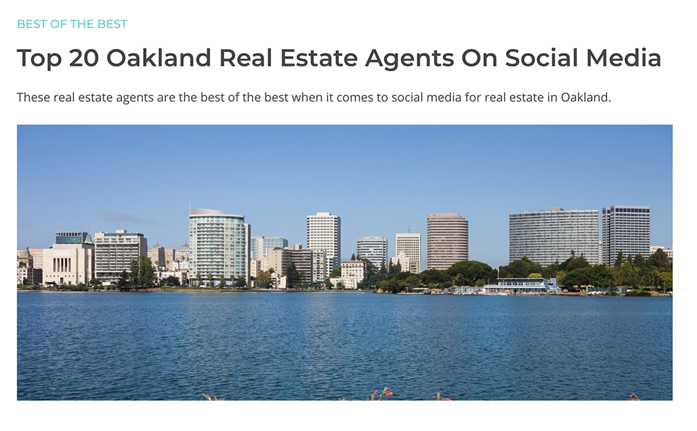 Top 20 Oakland Real Estate Agents On Social Media