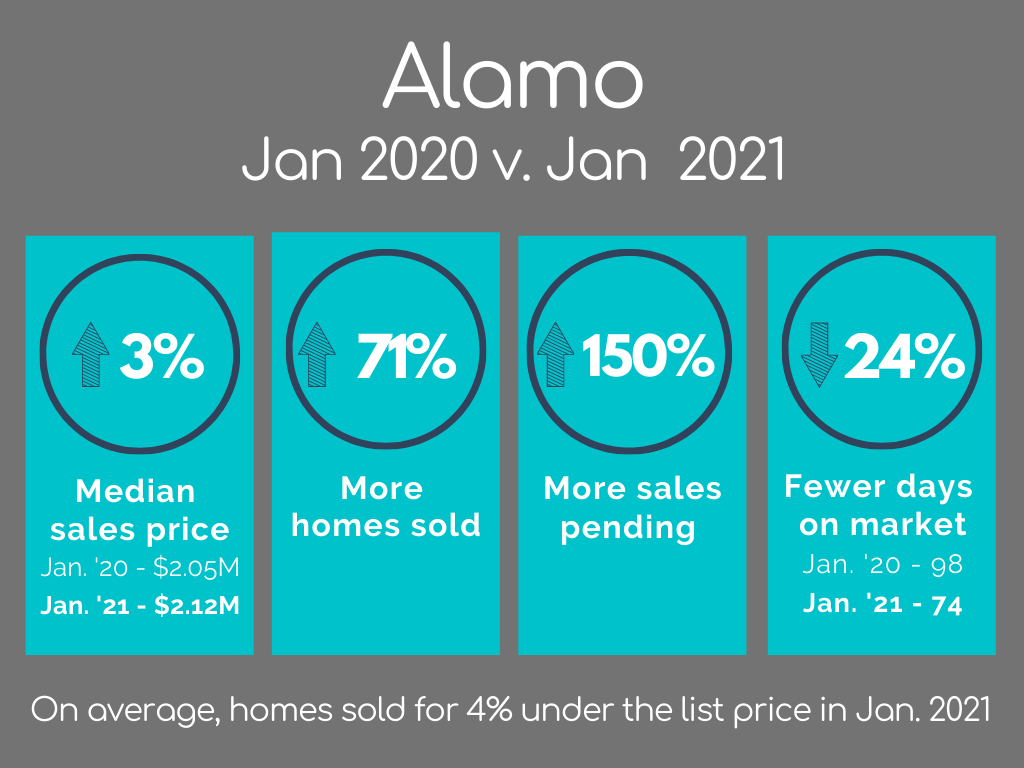 Alamo Housing Market Statistics January 2021