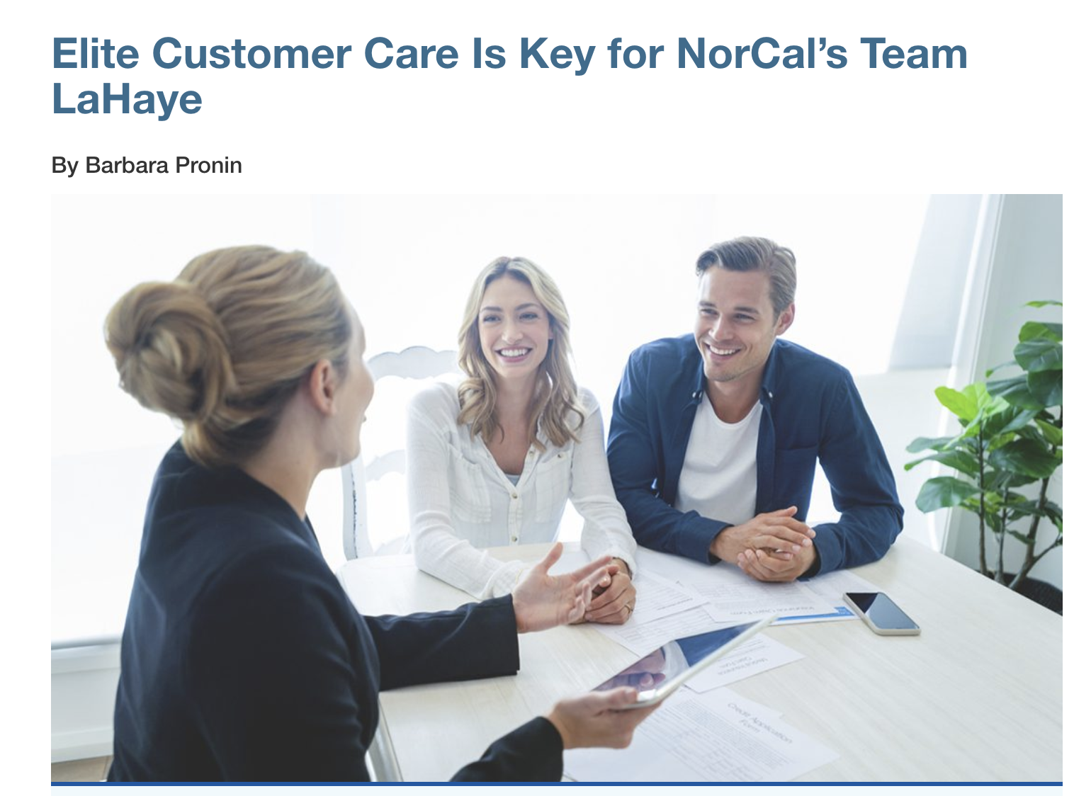 Elite Customer Care Is Key for NorCal's Team LaHaye